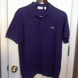 NWOT XL 7 LACOSTE POLO PURPLE CLASSIC FIT New